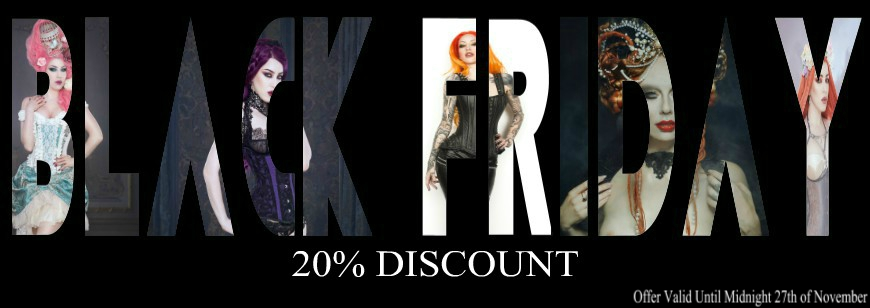 Black Friday special offer from Burleska Corsets