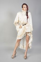 Draconia cream lace cream king brocade bolero