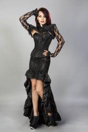Raven gothic bolero jacket in black king brocade