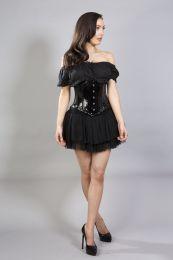 Sexy waspie waist cincher in black PVC