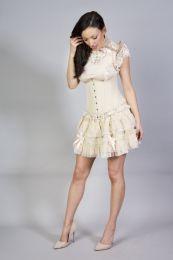 Lolita mini burlesque skirt in cream taffeta