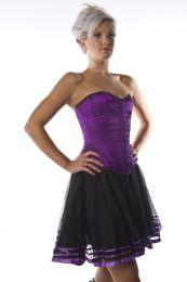 Devine overbust corset purple satin
