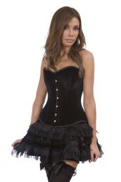 Lolita burlesque mini skirt in black velvet
