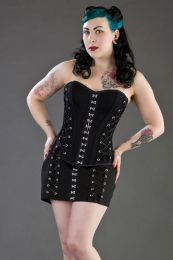 alchemy overbust corset in black twill