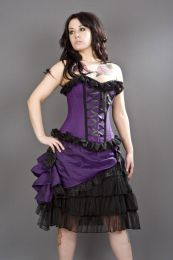 Alice overbust gothic corset in purple taffeta