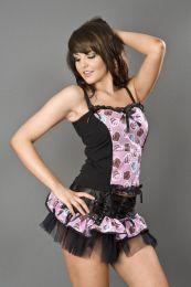 Betty mini skirt in pink cupcake print