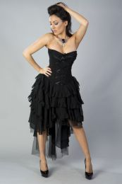 Beverly prom corset dress in black chiffon