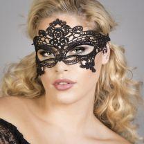 Black lace crochet masque