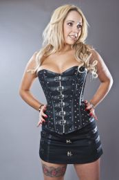 C-Lock steampunk mini skirt in black twill