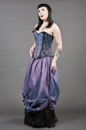 Chantelle overbust steel boned corset in lilac taffeta