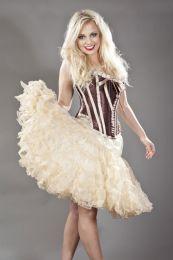 Classic knee length petticoat in layered cream organza