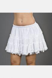 Classic mini petticoat in white layered mesh