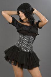 Daisy underbust polka dot corset