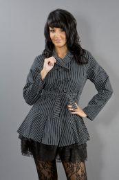 Dark ladies gothic jacket in black and white stripes