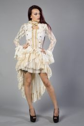 Destinity victorian gothic jacket in cream lace