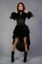 Destinity victorian gothic jacket in black lace