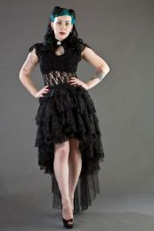 Dita sleeveless gothic top in black stretch lace
