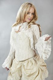 Dita long sleeve cream lace victorian bolero shrug