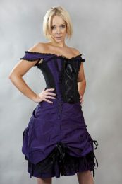 Dita victorian gothic prom corset dress in purple taffeta