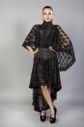 Draconia black lace black king brocade bolero