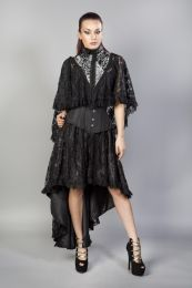 Draconia black lace silver king brocade bolero