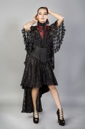 Draconia black lace red king brocade bolero