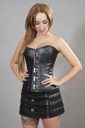 Elegant c-lock overbust corset black matte