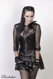 Electra punk rock jacket in black fishnet