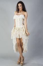 Elizabeth corset dress in cream taffeta