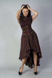 Elizium long victorian skirt in brown chiffon