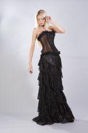 Elizium overbust corset in brown taffeta