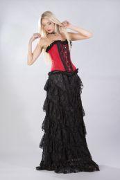 Elizium overbust corset in red taffeta