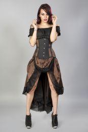 Angelina burlesque skirt in cream satin and cream lace overlay