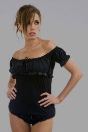 Gypsy black cotton gothic top