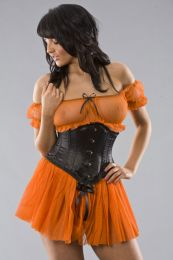 Gypsy gothic mesh top in orange