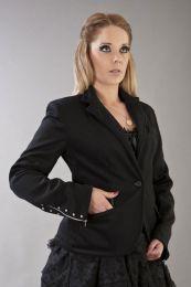 Hannah ladies tailored jacket in black wool