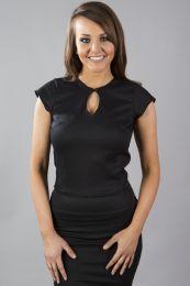 Isabella women's top in black cotton