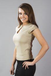Isabella women's top in cream cotton