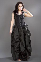 Jasmin overbust gothic corset in black taffeta