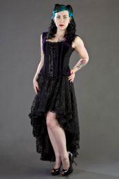 Jasmin overbust gothic corset in purple velvet