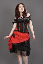 Jasmin underbust gothic corset in red taffeta