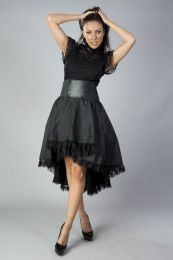Julia high waisted skirt in black taffeta