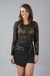 Kristy mini skirt in black twill