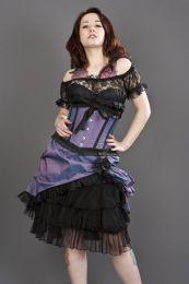 Lily underbust waist cincher in lilac taffeta