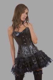 Lolita burlesque mini skirt in black PVC
