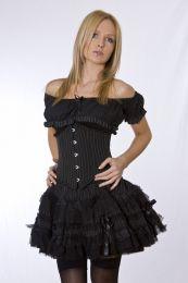 Lolita rockabilly mini skirt in pinstripe