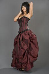 Ballgown victorian maxi skirt in burgundy taffeta