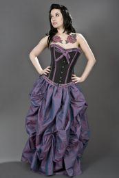 Ballgown gothic victorian maxi skirt in lilac taffeta