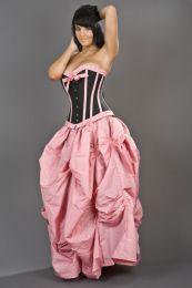 Ballgown long victorian skirt in pink taffeta