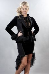 Medusa tailored women's black gothic velvet jacket